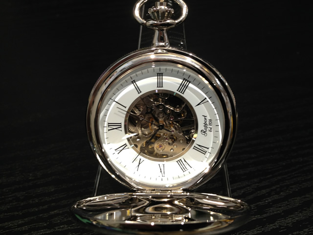 Rapport ラポート 懐中時計 ポケットウォッチ 両開き手巻き式 スケルトン PW97 正規輸入品1898年イギリスのロンドンに誕生した老舗ブランドRapport ラポート ポケットウォッチ 懐中時計です