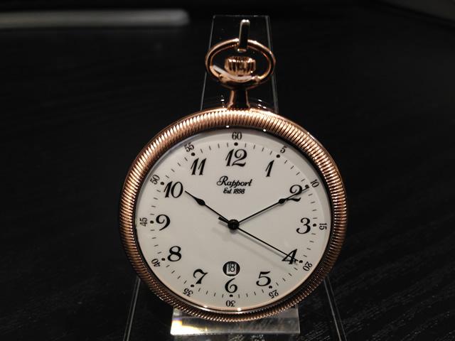 Rapport ラポート 懐中時計 ポケットウォッチ 蓋なし ローズゴールドカラー クォーツ式 PW34 正規輸入品コインエッジの美しい薄型の懐中時計ですRapport ラポート ポケットウォッチ 懐中時計です