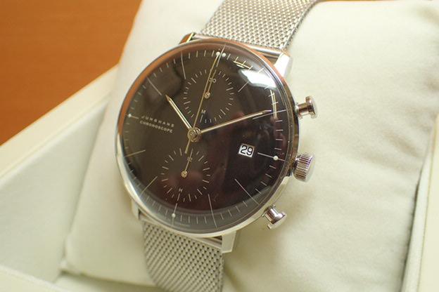 ユンハンス マックスビル バイユンハンス 腕時計 MAX BILL BY JUNGHANS Chronoscope 40mm マックスビル クロノスコープ 027 4601 00M 正規商品