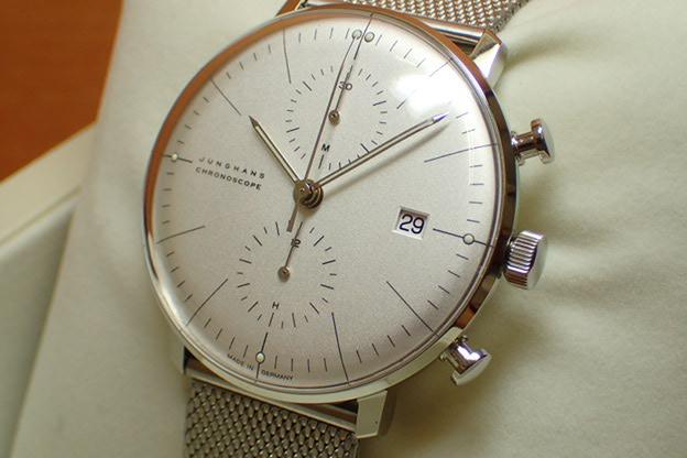 ユンハンス マックスビル バイユンハンス 腕時計 max bill by junghans chronoscope 40mm マックスビル クロノスコープ 027 4600 00M 正規商品