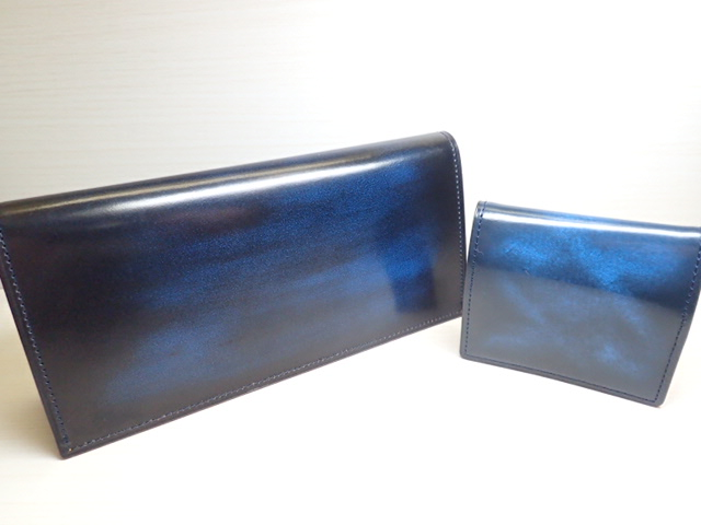 GREDEER アドバン 長財布(小銭入なし) GCKA001S-Z ブルー と小銭入 GCKA003S-Z のセット