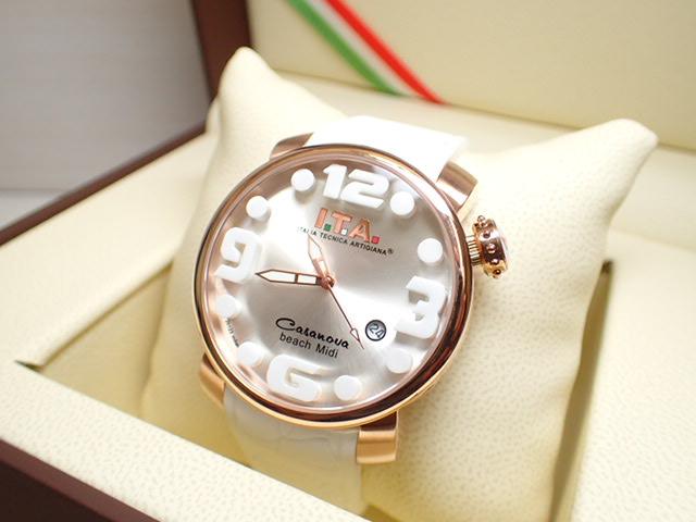 ITA 腕時計 アイティーエー カサノバ・ビーチ ミディ 正規商品 Ref.19.03.10 優美堂のI.T.A 腕時計はメーカー保証2年の正規商品です人気シリーズ「カサノバ・ビーチ」のミニサイズ