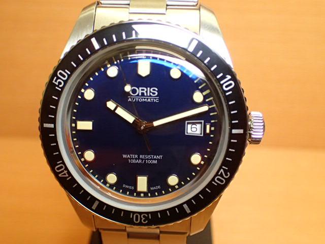 オリス 時計 ダイバース 65 ヘリテイジ 腕時計 Oris HERITAGE 73377204055M 送料無料 正規輸入品 ブルー(ネイビー)ダイヤル メタルブレスレット 分割払い可