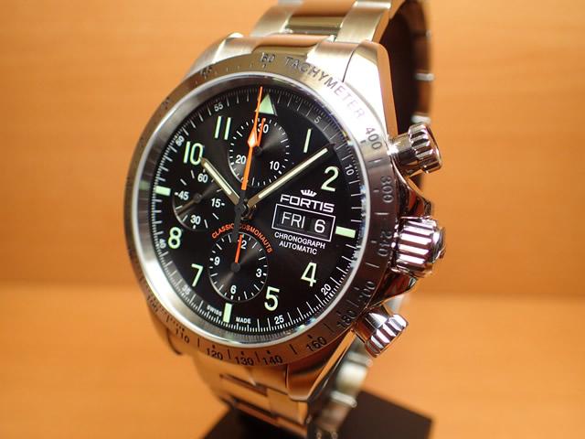 フォルティス 腕時計 FORTIS クラシック・コスモノート スチール p.m. 42mm Ref 401.21.11M
