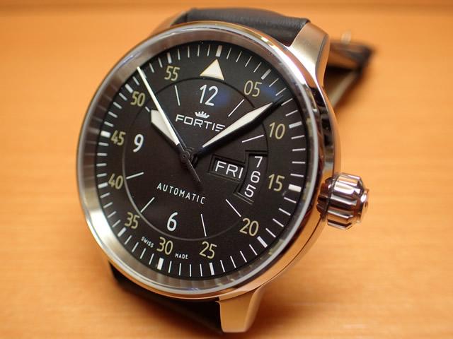 フォルティス 腕時計 FORTIS Cockpit One & Two - コックピット1&コックピット2 Ref.704.21.18BK 優美堂分割払いOKです