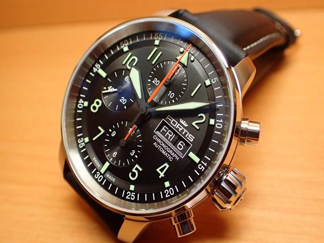 フォルティス 腕時計 FORTIS Flieger Pro Chronographフリーガープロ クロノグラフ 43mm Ref.705.21.11 分割払いOKです
