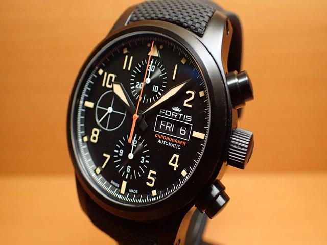 フォルティス 腕時計 エアロマスター ステルス クロノグラフ FORTIS Ref.656.18.18