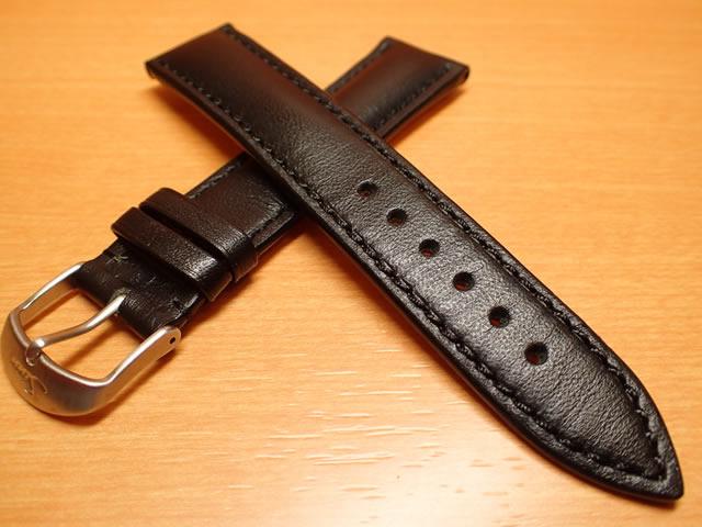 【SINN】 ジン 腕時計  Sinn 純正バンド ベルト ロシアン 牛革 カウレザー・ストラップ (20mm) 腕時計用 時計ベルト 時計用バンド 黒色