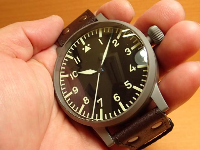 ラコ 腕時計 Laco パイロットウォッチ LACO 97系 手巻き式 レプリカA 55mm 861929優美堂のLaco ラコ腕時計はメーカー保証2年つきの正規販売店商品です。