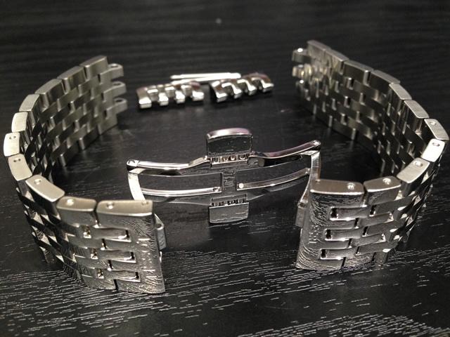 ティソ ベルト 時計 TISSOT 純正時計ベルト バンド パーペチュアルカレンダー T0636371103700,T0636371106700 用 20mm ステンレススチール メタルブレスレット 20mm T605031609