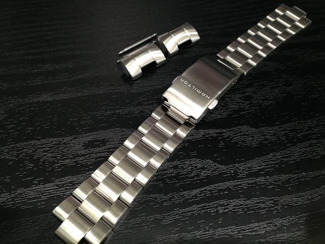 HAMILTON☆ハミルトン☆カーキ アビエイション パイロット 専用 メタルブレスレット 20mm 腕時計バンド ベルト メタルバンド H605646101 全国送料180円のメール便がご利用いただけます。