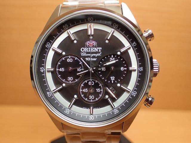 オリエント ORIENT 腕時計 Neo 70's Solar Chronograph ソーラークロノグラフ ブラック WV0011TX メンズ