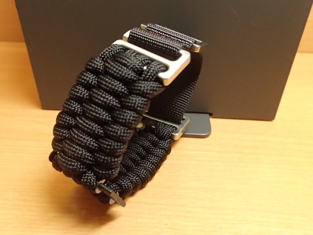 VICTORINOX ビクトリノックス 腕時計 I.N.O.X. イノックス 241726.1 用 ベルト バンド Paracord NAIMAKKA パラコード ナイマッカ ストラップ ブラック V.60022