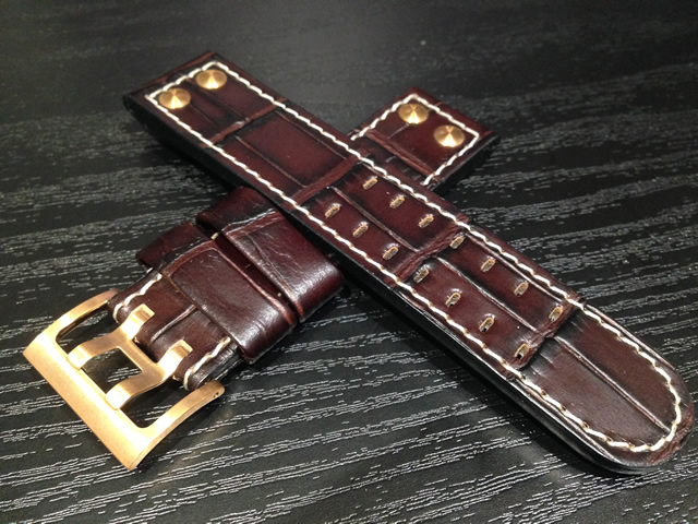 ハミルトン ベルト 時計 カーキ X-WIND & AVIATION QNE & X-COPTER 用 交換バンド 牛革 時計バンド 時計ベルト 茶色 ブラウン 22mm HAMILTON H600776124