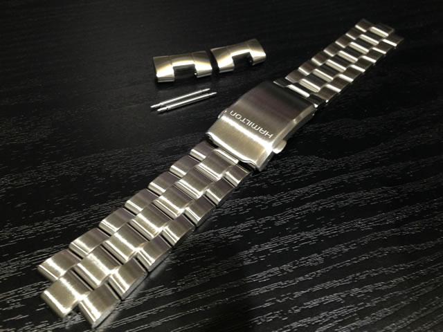 HAMILTON☆ハミルトン☆カーキX-WIND X-ウインドゥ 専用 メタルブレスレット 22mm 時計バンド ベルト メタルバンド H605766100 全国送料180円のメール便がご利用いただけます。