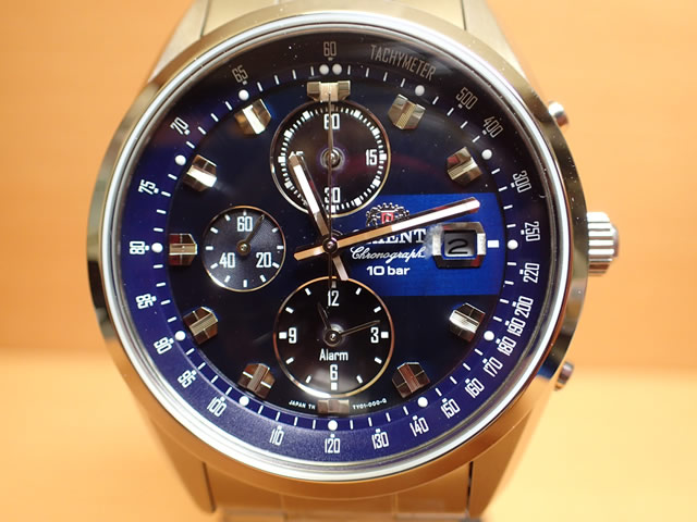 オリエント ORIENT 腕時計 Neo 70's Solar Chronograph ソーラークロノグラフ ブルー WV0011TY メンズ