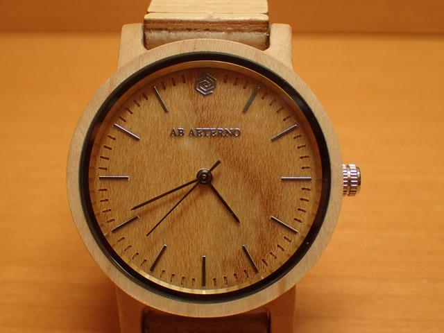 アバテルノ AB AETERNO 腕時計 ハーモニーコレクション ウッドウオッチ WAVE メープルウッド 35mm 【正規輸入品】 MADE IN ITALY