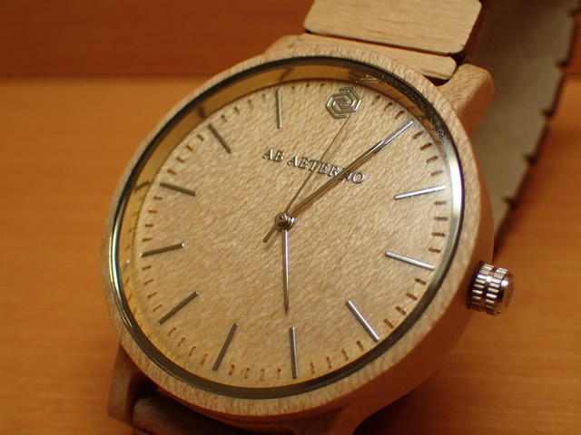アバテルノ AB AETERNO 腕時計 ハーモニーコレクション ウッドウオッチ WAVE メープルウッド 40mm 【正規輸入品】 MADE IN ITALY