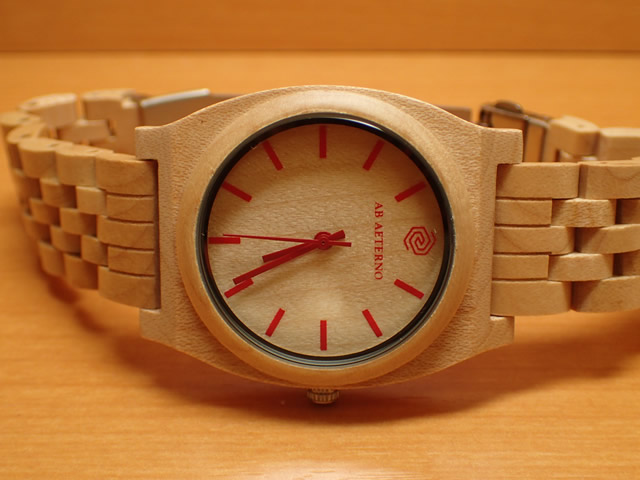アバテルノ AB AETERNO 腕時計 HORIZON COLLECTION メープルウッド ROUTE RED 40mm 9825033 メンズ 【正規輸入品】 MADE IN ITALY