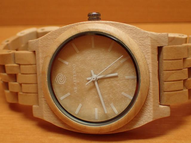 アバテルノ AB AETERNO 腕時計 HORIZON COLLECTION メープルウッド ROUTE WHITE 40mm 9825032 メンズ 【正規輸入品】 MADE IN ITALY