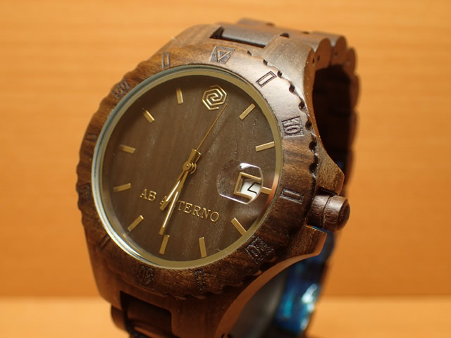 アバテルノ AB AETERNO 腕時計 NATURE COLLECTION ブラックサンダルウッド VOLCANO 9825018 メンズ 【正規輸入品】 MADE IN ITALY