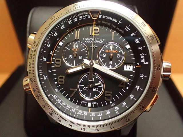 ハミルトン HAMILTON 腕時計 カーキ Khaki X-Wind GMT/カーキX-ウィンド GMT H77912335【送料無料】