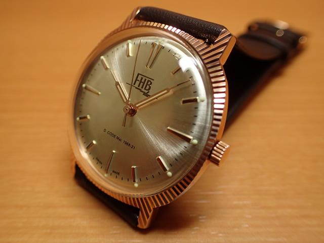 【あす楽】【ラスト1本】FHB エフエイチビー 腕時計 クラシックフレアーシリーズ Classic Flair Series F907RG-BR 【正規輸入品】「ヴィンテージベーシック」由緒ある腕時計の基本形。FHBはフェリックス・フーバーの名を冠にして始まった腕時計ブランド。