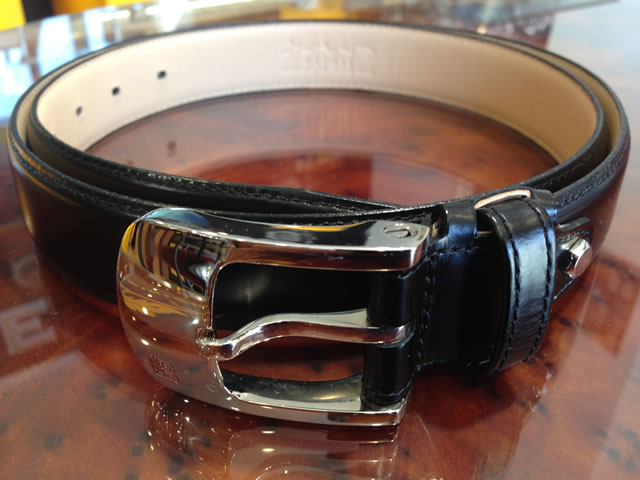 松阪牛革を使用 さとり メンズ腰ベルト 黒色 HCB45ASZ
