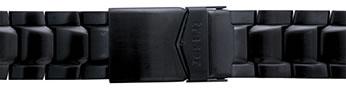 Traser トレーサー 腕時計 純正 P6504シリーズ用メタルブレスレット バンド ベルト バネ棒つき BLACK ブラック 正規輸入品22mm