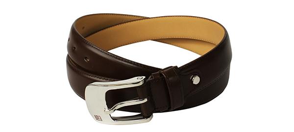 松阪牛革を使用 さとり メンズ腰ベルト 濃茶色 HCB45BSZ
