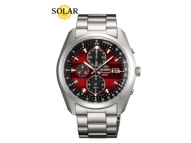 オリエント ORIENT 腕時計 Neo 70's Solar Chronograph ソーラークロノグラフ ワイン WV0031TY メンズ