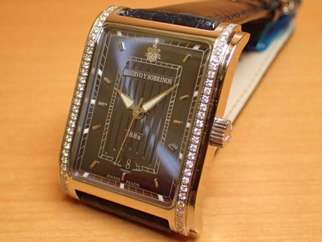 クエルボイソブリノス 腕時計 プロミネンテ クラシコ ダイヤモンド入りベゼル ケース 正規商品 Ref.1015-1BS-S1 クエルボ・イ・ソブリノス 無金利分割も可能です。