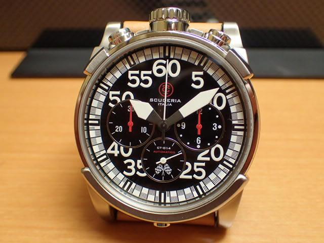 CT スクーデリア CT SCUDERIA 腕時計 CS10506 自動巻き オートマチック クロノグラフ メンズ 【正規輸入品】メーカー保証2年付の正規代理店商品になります。 優美堂 分割払いできます!