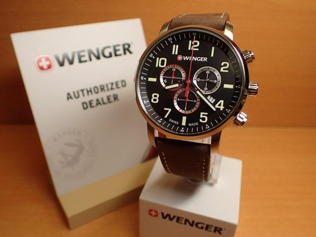 WENGER (ウェンガー) 腕時計 Attitude Chrono 01.1543.103 復活e優美堂のウェンガーは安心のメーカー保証3年付き日本正規商品です。