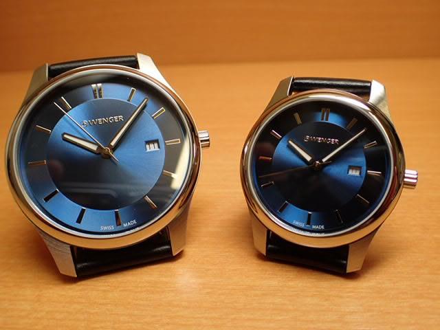 WENGER (ウェンガー) 腕時計 City Classic ネイビー文字盤 ペアウォッチ 01.1441.118/01.1421.112 復活e優美堂のウェンガーは安心のメーカー保証3年付き日本正規商品です。