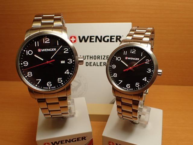 WENGER (ウェンガー) 腕時計 Avenue ブラック文字盤 ペアウォッチ 01.1641.102/01.1621.102 復活e優美堂のウェンガーは安心のメーカー保証3年付き日本正規商品です。