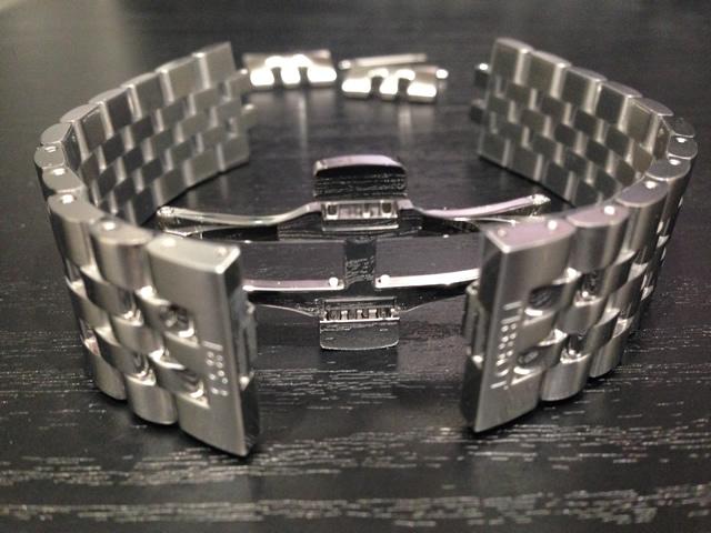 ティソ ベルト 時計 TISSOT 純正時計ベルト バンド Ballade バラード用 20mm ステンレススチール メタルブレスレット 20mm T605039828