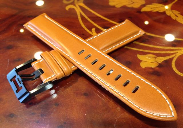 ハミルトン ベルト 時計 純正 カーキフィールドスケルトンオート専用 牛革(カーフ) 腕時計 バンド ブラウン (茶色)20mm HAMILTON H600725101