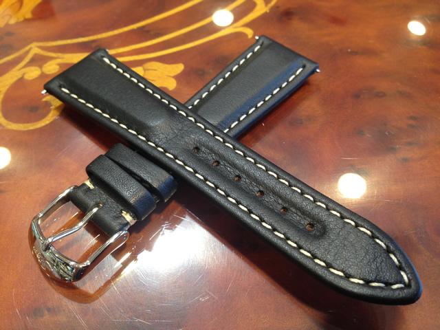 【SINN】 ジン 腕時計 Sinn 純正バンド ベルト 牛革  917、956用 カーフレザー ストラップ SSポリッシュ・バックル (22mm) 腕時計用 時計ベルト 時計用バンド