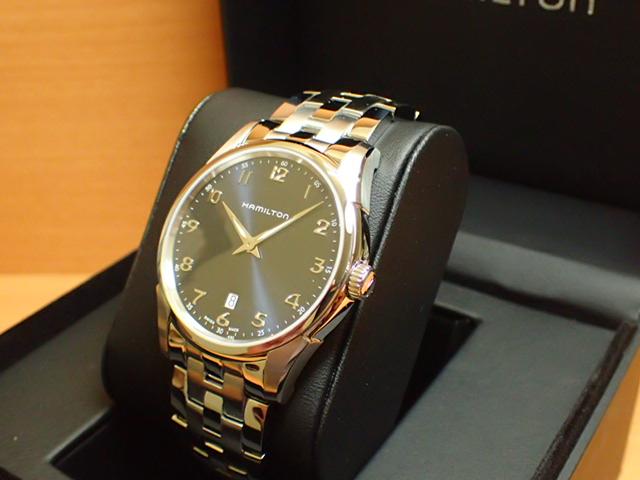 ハミルトン ジャズマスター シンライン 42mm ネイビーダイアル HAMILTON Jazzmaster Thinline H38511143 メンズ 腕時計【送料無料】 【正規輸入品】
