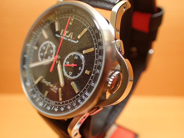 アイティーエー ヴェローチェ 腕時計 I.T.A veloce 正規商品 Ref.24.00.01レトロな印象をもたらし、ストーン加工を施したダイヤルが高級感を高めているクロノグラフモデル
