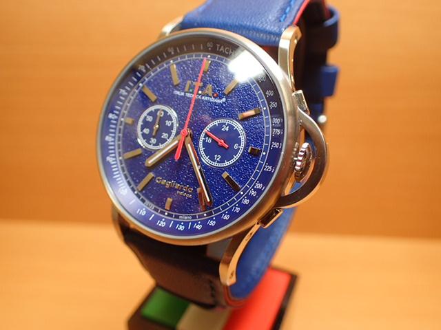 アイティーエー ヴェローチェ 腕時計 I.T.A veloce 正規商品 Ref.24.00.03レトロな印象をもたらし、ストーン加工を施したダイヤルが高級感を高めているクロノグラフモデル