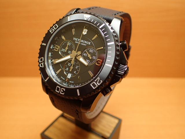 ビクトリノックス マーベリック クロノグラフ ブラックエディション 腕時計 VICTORINOX Maverick Chronograph Black Edition メンズサイズ 43mm Ref.241786