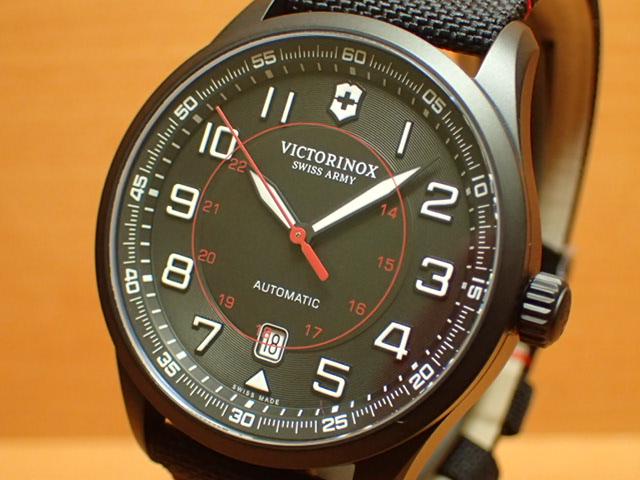 ビクトリノックス エアボス メカニカル ブラックエディション 腕時計 VICTORINOX Airboss Mechanical Black Edition メンズサイズ 自動巻き 42mm Ref.241720