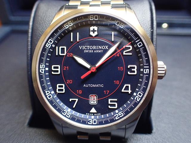 ビクトリノックス エアボス メカニカル 250本限定 リミテッドエディション 腕時計 VICTORINOX Airboss Mechanical Limited Edition ネイビーブルー メンズサイズ 自動巻き 42mm Ref.241793
