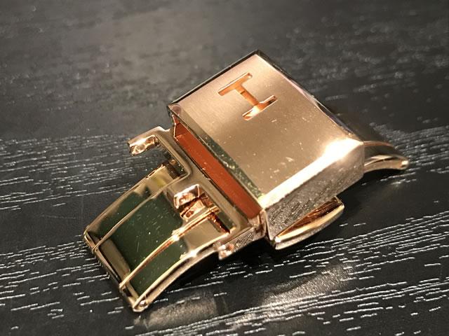 HAMILTON ハミルトン 純正 Dバックル 20mm 時計ベルト バンド 腕時計 革バンド専用 尾錠 ハミルトン 純正バタフライバックル PGP ピンクゴールド色 20mm H640000185