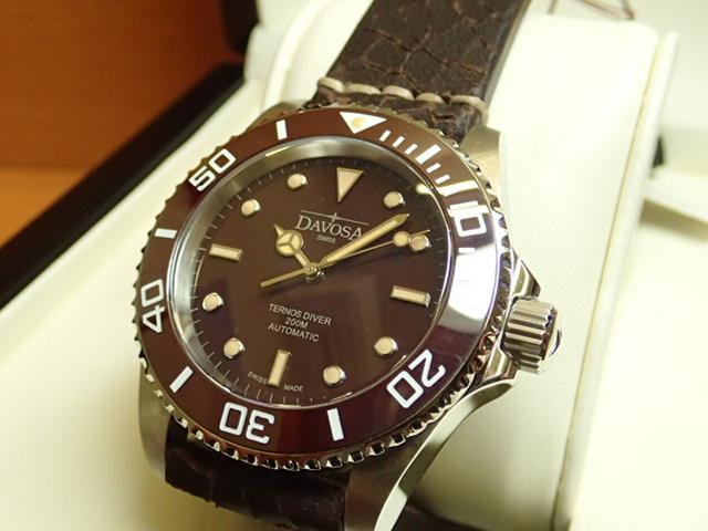 ダボサ 腕時計 DAVOSA Ternos Vintage ヴィンテージ ダイバー161.555.95 メンズ 40mm 【正規輸入品】針やインデックス、ダメージ加工のレザーストラップとこだわりぬいたヴィンテージダイバー