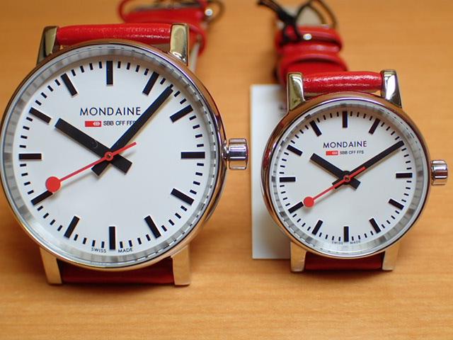 モンディーン ペアウォッチ 腕時計 エヴォ2 レッドレザー 35mm MSE.35110.LC と 26mm MSE.26110.LC優美堂のモンディーンはメーカー保証つきの正規商品です。