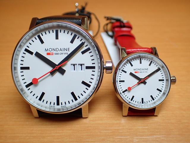 モンディーン ペアウォッチ 腕時計 エヴォ2 ビックデイト 40mm MSE.40210.LB と 26mm MSE.26110.LC 優美堂のモンディーンはメーカー保証つきの正規商品です。