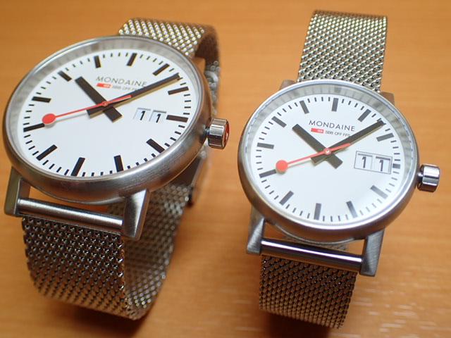 モンディーン ペアウォッチ 腕時計 エヴォ2 ビックデイト 40mm 30mm メッシュブレスレット MSE.40210.SM-MSE.30210.SM優美堂のモンディーンはメーカー保証つきの正規商品です。